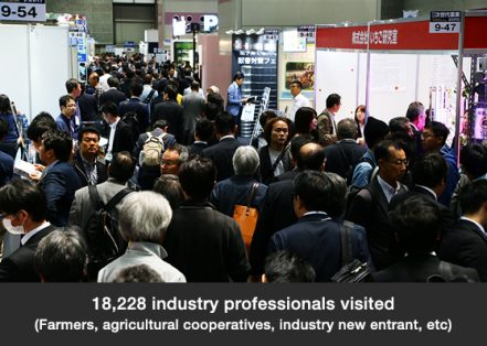18,228 industry professionals visited  (Farmers, agricultural cooperatives, industry new entrant, etc)